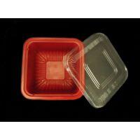 一次性黑红方碗批发/塑料正方形打包碗/单格外卖碗|陕西瑞翔塑业