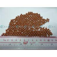 紫铜球材料牌号T2也有称红铜珠1mm1.45毫米2.05现货定做4.5mm导电性能好耐蚀性焊接性