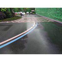 惠州市路引专业施工彩色热熔标线工程