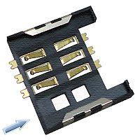 东莞 SOFNG SIM-012 尺寸:16.4mm*15.2mm*1.75mm SIM卡连接器