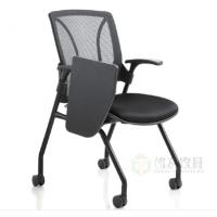 培训椅 网布写字板折叠椅定制 格友家具会议学习记录座椅批发
