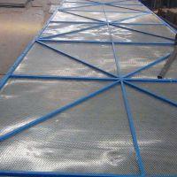 不锈钢圆孔半米字爬架网 焊框冲孔网片 高层建筑提升架安全网