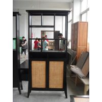 新中式鞋柜简约现代胡桃木实木鞋柜两门玄关柜门厅柜储物柜仿古家具