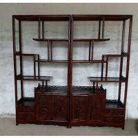 实木榆木博古架古典中式多宝阁实木置物架书柜书柜衡杨