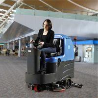 国内洗地机排行榜,容恩R125BT70驾驶式洗地机,仓库物流专用洗地机