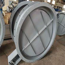 齐鑫生产焊接/法兰连接 电动 手动圆风门 质量保证