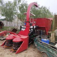 新型全自动玉米秸秆收割粉碎机 履带式高粱甘蔗青贮收割机 牧草青储机