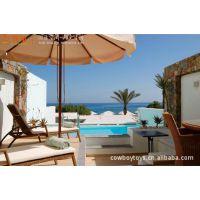 【厂家批发】户外带伞折叠竹藤沙滩椅 庭院阳台休闲沙发家具批发
