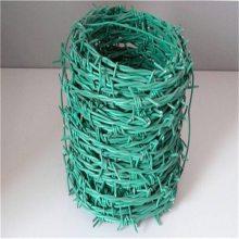 包塑刺绳围网 围墙铁蒺藜制作 镀锌刺绳批发