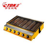 伊东厂家 K333环保烧烤炉 户外燃气加厚烤肉炉子 红外线喷涂大六头烤生蚝