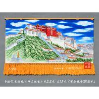 布达拉宫民族风情画佛教信仰高档礼品商务大厅家居接待室客厅手绘新中式风水画