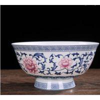 景德镇窑釉下彩日式餐具陶瓷拉面碗大汤碗复古彩色碗礼品寿碗