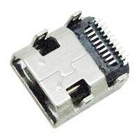 TOPLY 插座HDMI-219E 外形尺寸:7mm*7.5mm*3.45mm