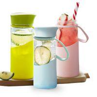 新款玻璃杯子便携可爱随手杯创意男女学生韩版户外办公小水杯300ML