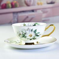 浩新厂家批发欧式陶瓷咖啡杯碟套装 创意骨质瓷茶杯套装定制加LOGO