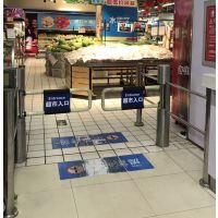豪华超市镜面烤漆六柱感应门,语音播报感应门,超市自动感应门