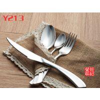 银貂 来样定做 意大利刀叉勺 不锈钢西餐刀叉勺套装