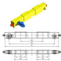 General Double Girder Tope Running End Carriage