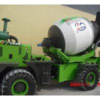 云南弥勒1.2方自上料搅拌机 水泥混凝土路面施工专用 小型家用搅拌车