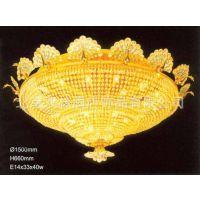 中元之光供应现代简约客厅餐厅灯 led吸顶灯水晶灯饰 酒店工程水晶灯定制销售