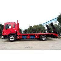 挖掘机平板运输车厂家 东风单桥挖机平板拖车价格