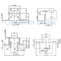 SOFNG TS-1102U 外形尺寸:6.0mm*6.0mm