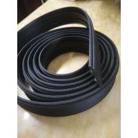 厂家直销ABS塑料异型材 ABS黑色异形挤出型材 黑色软料挤出
