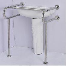 四川省成都市大量批发304不锈钢卫浴扶手,立柱双u扶手,适合洗手池、盆安装。