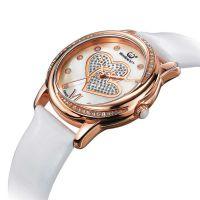情侣手表定制— 50米 防水高端真皮不锈钢石英手表