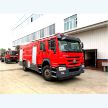 浙江杭州销售的国五豪沃8吨泡沫消防车有什么配置
