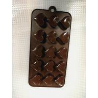 鼎聚赢硅胶15孔爱心造形水滴形冰格蛋糕模布丁手工皂模模具烤盘耐高温Diy工具