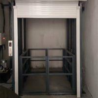 龙铸机械工厂专业定做导轨式液压升降货梯 2吨三层厂房载货平台