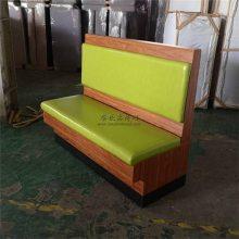 珠海储物卡座沙发定做,简约板式双人位餐厅卡座