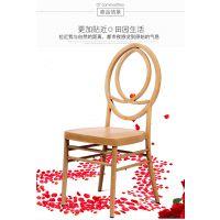 厂家直销金属古堡椅 户外婚庆椅简约现代竹节椅 可定制