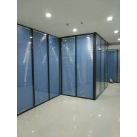 马鞍山办公玻璃隔断 办公双玻百叶隔墙厂家直销 高隔间如何设计