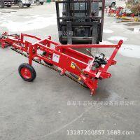 大马力40拖拉机   农用手扶车带动红薯收获机