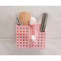 雷力厨房用品沥水筷笼/塑料吸盘筷子筒/简约三格单层沥水筷子架筷笼子餐具架