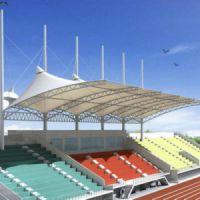 厂家定制户外景区体育球场网球场膜结构遮阳PVDF大型体育场馆看台