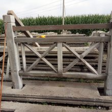 混凝土水泥防护栏杆仿木护栏公园河道户外水泥栏杆