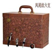 红酒皮盒六支PU皮手提礼盒带酒具 拉菲礼品盒定制红酒包装盒