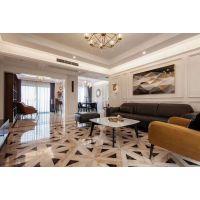 棕榈泉国际花园D区151㎡户型装修,美式轻奢设计案例