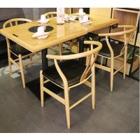 倍斯特现代中式新款时尚大理石火锅桌主题中餐厅酒楼厂家定制