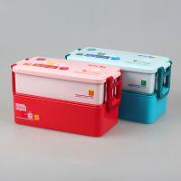 厂家直销悠悦个性长方形便当盒402 儿童便当盒 环保儿童塑料饭盒 提供OEM