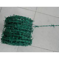 浸塑刺绳价格@绿色带刺铁丝网@不锈钢刺绳