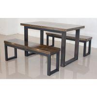 厂家直供全新钢木餐桌椅