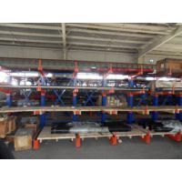 伸缩式悬臂货架苏州厂 长钢板存放架 悬臂式货架