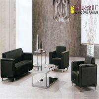 批发简约 3+1+1组合办公沙发 现代PU三人位沙发 商业办公家具可定制