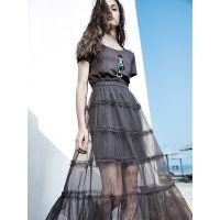 香港品牌艾利欧18夏款时尚女装尾货 折扣女装一手货源