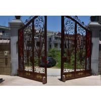 怀化别墅庭院走轮式八字自动门开门机安装