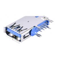 A型侧插母座 3.0 USB 9P卷边鱼叉脚 DIP插座